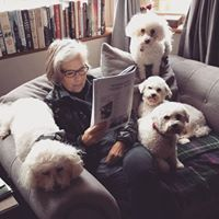 Bev with Alaska, Savanah, Melody, and Tallulah, Bishop Auckland, England