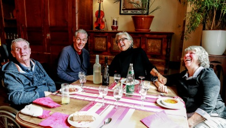 Lunch with friends in Southern France