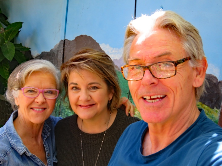 With Sharon, Terry and Althea's daughter, in Tasmania.