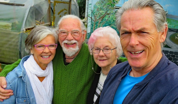 With Terry and Althea in Latrobe, Tasmania