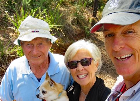 Meeting John during morning walk in Latrobe, Tasmania