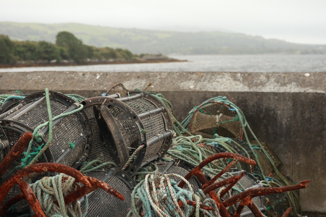 Durrow_lobster traps on pier