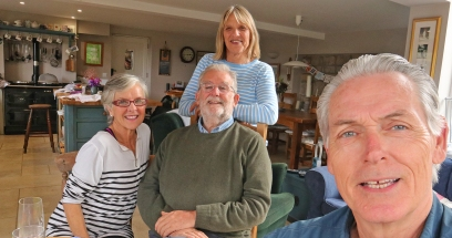 With Andrew and Susan Meehan of North Curry, England
