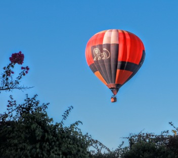 One morning we were awakened by this balloon flying directly over our back yard.