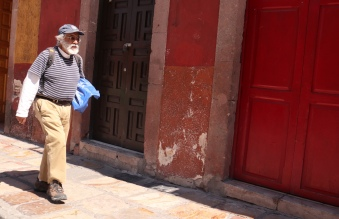 Man walking in San Miguel de Allende
