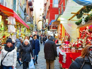 The famoous Christmas Strada in Naples