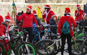 Santa Bike Riders in Palermo